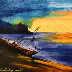 boat series 4, 12 x 8 inch, shankhadeep  mondal,12x8inch,thick paper,modern art paintings,conceptual paintings,nature paintings   scenery paintings,paintings for dining room,paintings for living room,paintings for bedroom,paintings for office,paintings for kids room,paintings for hotel,paintings for kitchen,paintings for school,paintings for hospital,paintings for dining room,paintings for living room,paintings for bedroom,paintings for office,paintings for kids room,paintings for hotel,paintings for kitchen,paintings for school,paintings for hospital,watercolor,GAL01403047740