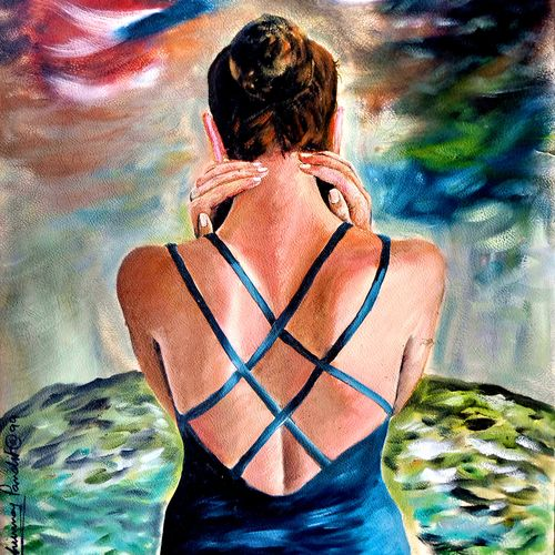 a girl, 24 x 30 inch, chinmoy pandit,24x30inch,oil sheet,paintings,figurative paintings,modern art paintings,conceptual paintings,realism paintings,contemporary paintings,paintings for dining room,paintings for living room,paintings for bedroom,paintings for office,paintings for kids room,paintings for hotel,paintings for kitchen,paintings for school,paintings for hospital,oil color,GAL094647744