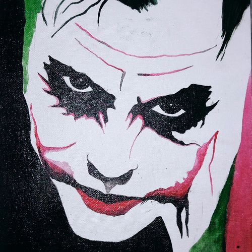 the joker, 10 x 12 inch, pritam dash,modern art paintings,paintings for living room,canvas,acrylic color,10x12inch,GAL017014794