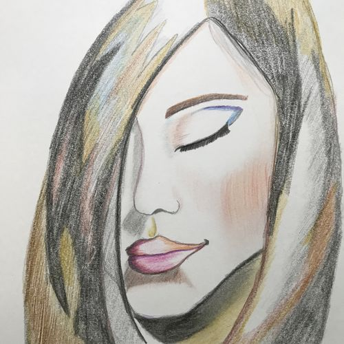 shy, 8 x 12 inch, rohan  moorthy,portrait drawings,paintings for living room,drawing paper,pencil color,8x12inch,GAL016884833