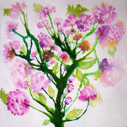 blooms and delights, 9 x 13 inch, neeraj parswal,flower paintings,paintings for living room,thick paper,watercolor,9x13inch,GAL094848