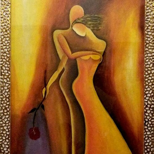love, 17 x 24 inch, astha  sharma,paintings for dining room,modern art paintings,love paintings,canvas,oil,17x24inch,GAL017264856heart,family,caring,happiness,forever,happy,trust,passion,romance,sweet,kiss,love,hugs,warm,fun,kisses,joy,friendship,marriage,chocolate,husband,wife,forever,caring,couple,sweetheart