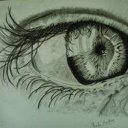 human eye sketch, 17 x 12 inch, prachi wardhan,figurative drawings,paintings for living room,figurative drawings,thick paper,,17x12inch,GAL017294857