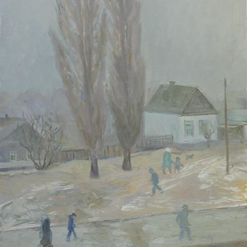bad weather, 24 x 31 inch, moesey li,landscape paintings,paintings for living room,canvas,oil paint,24x31inch,GAL07184871