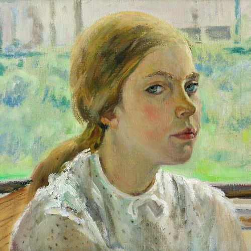 portrait of the girl, 22 x 14 inch, moesey li,portrait paintings,paintings for living room,canvas,oil paint,22x14inch,GAL07184876