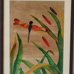 dragonfly, 13 x 19 inch, shruti deora,contemporary paintings,paintings for living room,paintings,ohp plastic sheets,coffee,13x19inch,GAL017514898