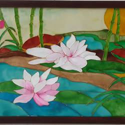 no mud, no lotus, 14 x 11 inch, shruti deora,paintings for living room,flower paintings,paintings for bedroom,thick paper,coffee,glass,14x11inch,GAL017514904