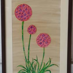 poppies, 11 x 16 inch, shruti deora,contemporary paintings,paintings for living room,thick paper,coffee,11x16inch,GAL017514908