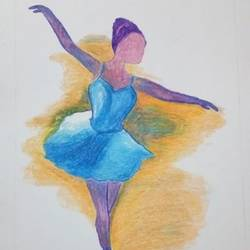 dancer, 16 x 20 inch, priya nayyar,realism drawings,paintings for bedroom,thick paper,pastel color,16x20inch,GAL017524909