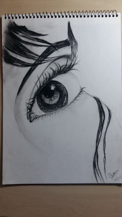 through her eyes, 9 x 10 inch, nidhi gupta,paintings for bedroom,figurative drawings,thick paper,charcoal,9x10inch,GAL0248491