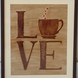 coffee love, 13 x 16 inch, shruti deora,contemporary paintings,paintings for dining room,thick paper,coffee,13x16inch,GAL017514910