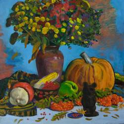 still life with teddy bear, 20 x 24 inch, moesey li,still life paintings,paintings for living room,canvas,oil paint,20x24inch,GAL07184915