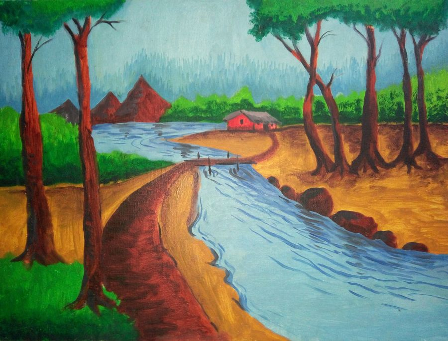 Buy Simple Nature Painting At Lowest Price By Shubharthee Ghosh