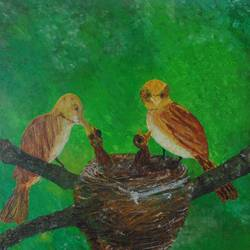 motherhood, 16 x 12 inch, suchismita sahoo,wildlife paintings,paintings for bedroom,canvas board,acrylic color,16x12inch,GAL017565009