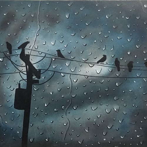 petrichor, 16 x 12 inch, shivangi khandelwal,nature paintings,paintings for living room,canvas,acrylic color,16x12inch,GAL018135031Nature,environment,Beauty,scenery,greenery