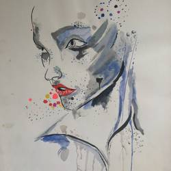 dripping soul, 12 x 16 inch, shivangi khandelwal,figurative paintings,paintings for living room,thick paper,watercolor,12x16inch,GAL018135032