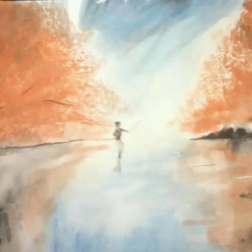 reflection, 17 x 12 inch, parul srivastava,landscape paintings,paintings for living room,brustro watercolor paper,watercolor,17x12inch,GAL012895057