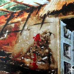 destruction, 20 x 18 inch, manab bagchi,realism paintings,paintings for living room,canvas,acrylic color,20x18inch,GAL017685069