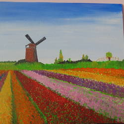 my holland, 12 x 10 inch, suchismita sahoo,landscape paintings,paintings for living room,canvas,acrylic color,12x10inch,GAL017565079