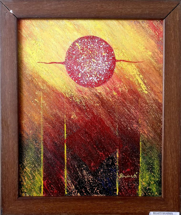 innovation series (small) - innovation-02, 10 x 22 inch, bharti sharma,abstract paintings,paintings for living room,canvas,acrylic color,10x22inch,GAL018425088