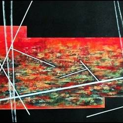 sunlight meadow, 36 x 24 inch, manjou ( harmanjit kaur) lamba,abstract paintings,paintings for living room,canvas,acrylic color,36x24inch,GAL010955167