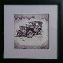 vintage wheels-3, 8 x 8 inch, vinay surtikar,illustration paintings,paintings for office,thick paper,ball point pen,8x8inch,GAL018775175