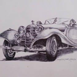 vintage wheels-4, 12 x 8 inch, vinay surtikar,illustration paintings,paintings for office,thick paper,ball point pen,12x8inch,GAL018775176