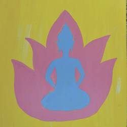 buddha, 10 x 11 inch, nipuna ghosh,buddha paintings,paintings for office,ivory sheet,acrylic color,10x11inch,religious,peace,meditation,meditating,gautam,goutam,buddha,lotus,outlined,GAL017305183