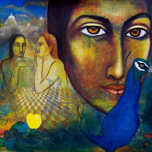 dream 2, 40 x 48 inch, avi roy,figurative paintings,canvas,acrylic color,40x48inch,GAL0172519