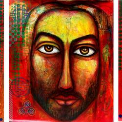 trigunas, 102 x 45 inch, avi roy,figurative paintings,canvas,acrylic color,102x45inch,GAL0172521