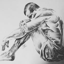 solitude, 24 x 18 inch, kapil tuli,figurative drawings,thick paper,charcoal,24x18inch,GAL018915224