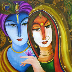 krishna radha- realm of love, 36 x 24 inch, neeraj parswal,figurative paintings,paintings for living room,love paintings,horizontal,radha krishna paintings,canvas,acrylic color,36x24inch,GAL095229,radhakrishna,love,pece,lordkrishna,,lordradha,peace,radha,krishna,devotion,coupleheart,family,caring,happiness,forever,happy,trust,passion,romance,sweet,kiss,love,hugs,warm,fun,kisses,joy,friendship,marriage,chocolate,husband,wife,forever,caring,couple,sweetheart