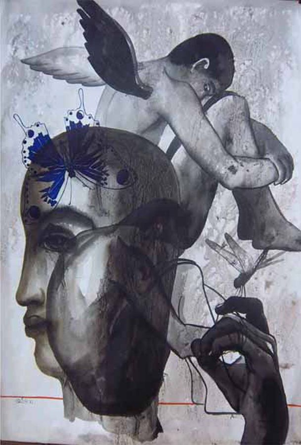 childhood 4, 22 x 30 inch, avi roy,conceptual paintings,thick paper,ink color,22x30inch,GAL0172525