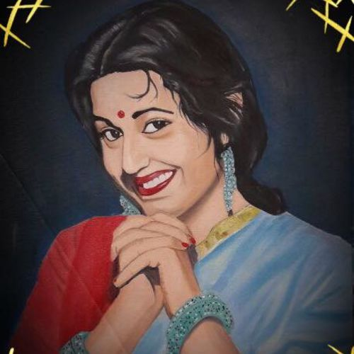 madhubala, 16 x 20 inch, subhash gijare,portrait paintings,paintings for living room,canvas,oil,16x20inch,GAL01385274