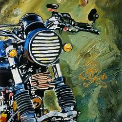 motorcycle 03, 15 x 21 inch, neha patidar,modern art paintings,paintings for living room,canvas,oil paint,15x21inch,GAL019145276