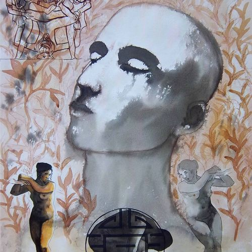 passion, 22 x 30 inch, avi roy,conceptual paintings,thick paper,acrylic color,22x30inch,GAL0172528