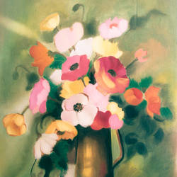 reflection of soul, 14 x 21 inch, pankaj tunwal,flower paintings,paintings for living room,thick paper,oil,14x21inch,GAL0276529