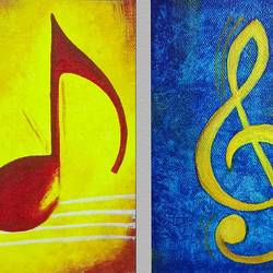 melody, 12 x 6 inch, dhruvi dharia,art deco paintings,paintings for living room,canvas,acrylic color,12x6inch,GAL019125339