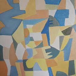 construction, 24 x 18 inch, shabbir lehri,abstract paintings,paintings for living room,canvas,oil,24x18inch,GAL017655352
