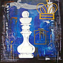 chess theme - dream it, 36 x 36 inch, babu shravan,paintings for office,modern art paintings,canvas,acrylic color,36x36inch,GAL019445362