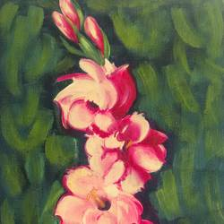 jwell creap, 13 x 21 inch, pankaj tunwal,flower paintings,paintings for office,thick paper,oil,13x21inch,GAL0276537