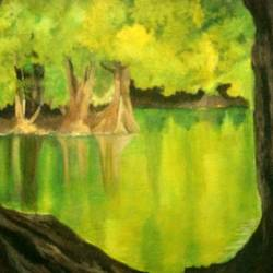 reflections in time, 13 x 11 inch, aradhana gupta,nature paintings,paintings for bedroom,canvas,acrylic color,13x11inch,GAL018525376Nature,environment,Beauty,scenery,greenery