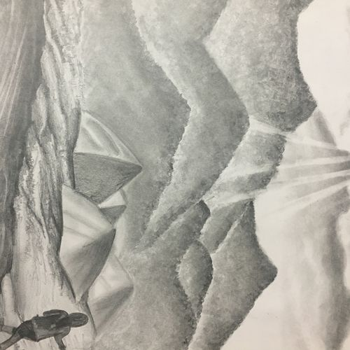 landscape, 12 x 16 inch, yusra  meraj,fine art drawings,paintings for living room,drawing paper,graphite pencil,12x16inch,GAL019705410
