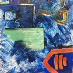 modern art, 16 x 12 inch, yusra  meraj,abstract paintings,paintings for living room,drawing paper,acrylic color,16x12inch,GAL019705411
