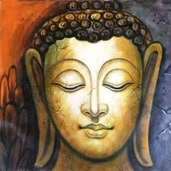 budhha 1, 22 x 18 inch, ashi  chaudhary ,buddha paintings,paintings for living room,canvas,acrylic color,22x18inch,religious,peace,meditation,meditating,gautam,goutam,buddha,GAL08925422