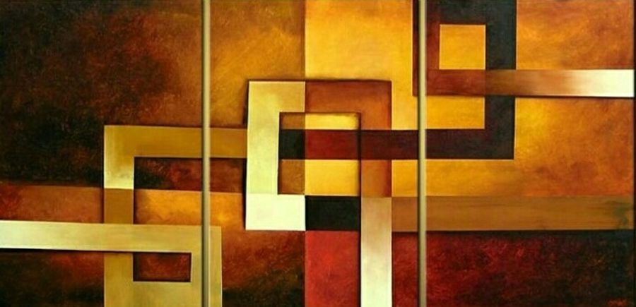 geometry 1, 55 x 25 inch, ashi  chaudhary ,abstract paintings,paintings for living room,canvas,acrylic color,55x25inch,GAL08925424