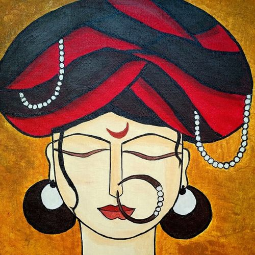 solitude, 18 x 24 inch, madhavi sandur,abstract paintings,paintings for living room,canvas,acrylic color,18x24inch,GAL0283544