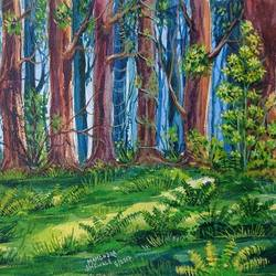 forest, 14 x 10 inch, mahendra shewale,nature paintings,paintings for living room,handmade paper,watercolor,14x10inch,GAL018725442Nature,environment,Beauty,scenery,greenery
