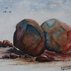 rocks, 10 x 7 inch, mahendra shewale,nature paintings,paintings for living room,handmade paper,watercolor,10x7inch,GAL018725467Nature,environment,Beauty,scenery,greenery