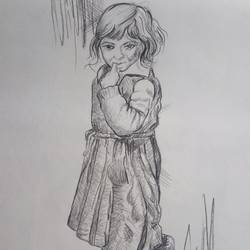 innocence, 10 x 14 inch, zeel savla,portrait drawings,paintings for office,paper,charcoal,10x14inch,GAL019825517